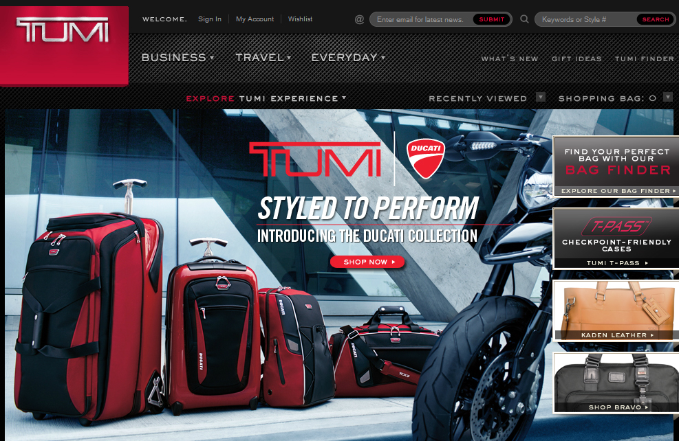 Tumi (with the Ducati connection)