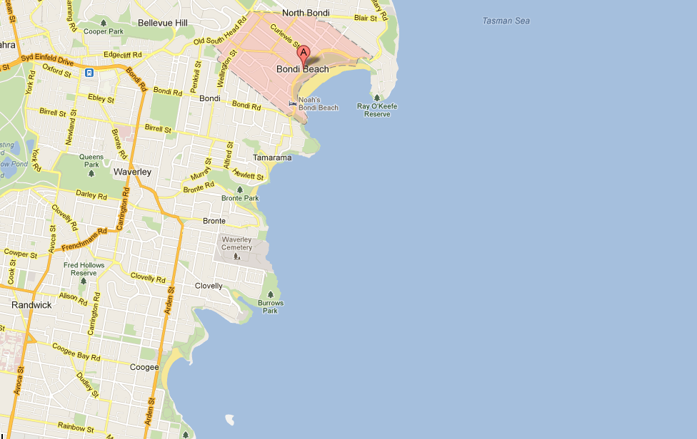 Coogee to Bondhi via Google Maps