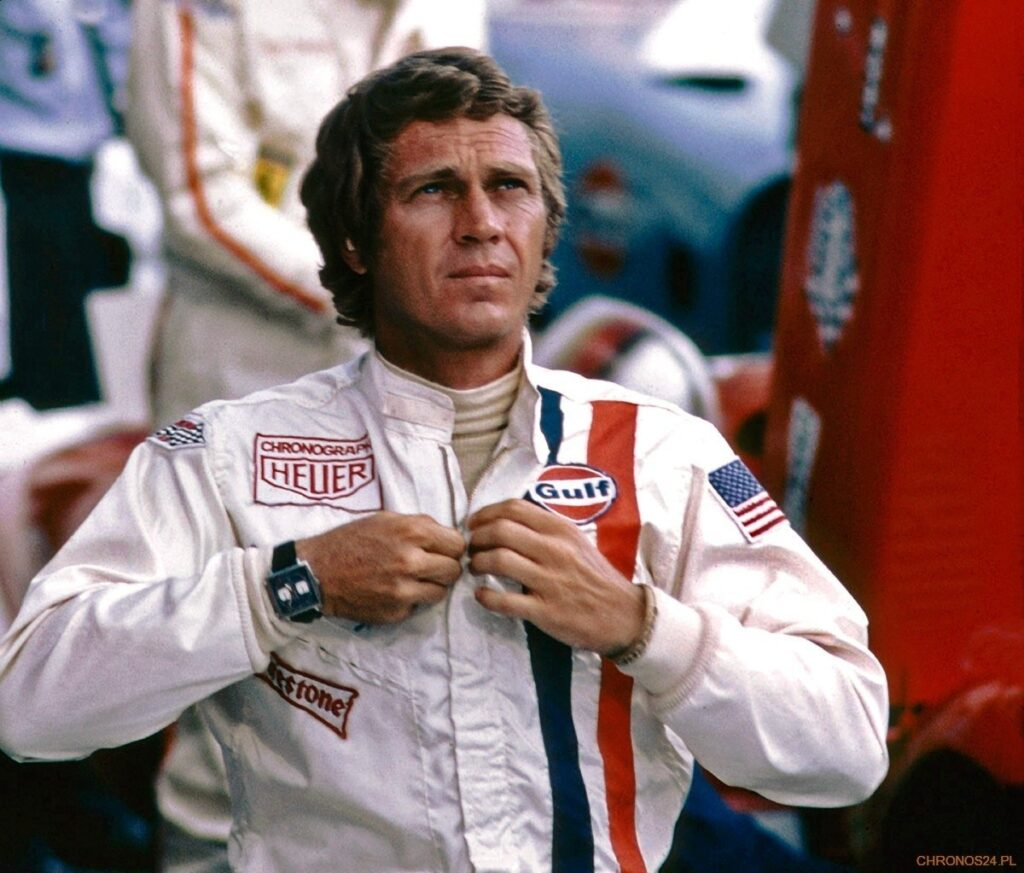 Steve McQueen wearing the TAG Heuer Monaco watch