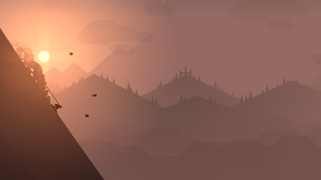 Sunrise in Alto's Adventure