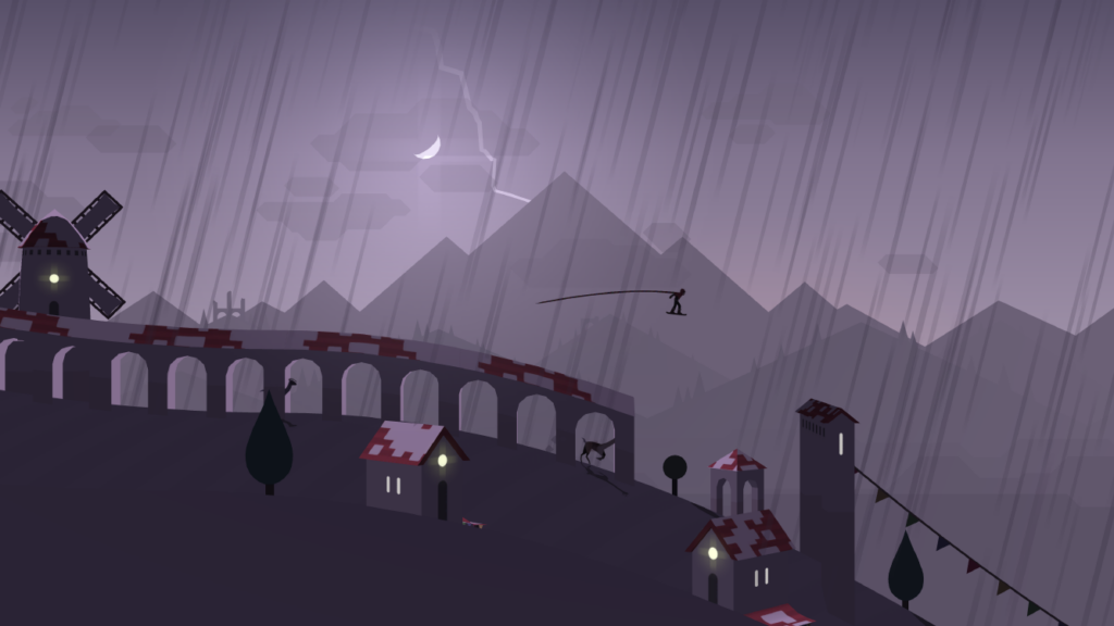 Rainy in Alto's Adventure